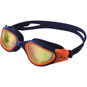 Zone3 Vapour Lunettes de natation Polarized, polarized lens-navy/hi-vis orange